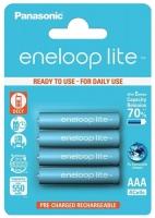 аккумуляторы (4 шт.) Panasonic 550 mAh R03/AAA Eneloop Lite-4BL