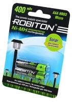 аккумулятор для садового светильника Robiton 400 mAh Solar R03/AAA-2BL