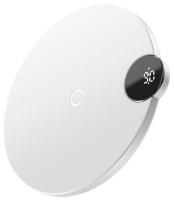 беспроводная зарядка с дисплеем для телефона Baseus Digtal LED Display Wireless Charger