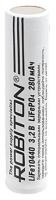литиевый аккумулятор 3.2v Robiton LiFe10440 280mAh без защиты