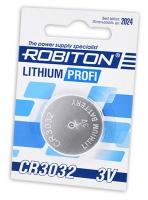 литиевая батарейка Robiton CR3032 PROFI-1BL